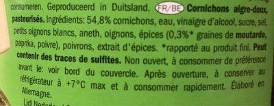 Gurkentopf - Ingrédients - fr