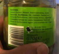 Cornichon aigre doux - Ingredients