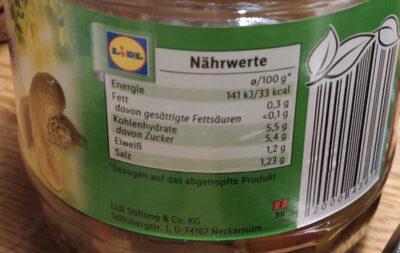Cornichons  Gurken - Valori nutrizionali - de