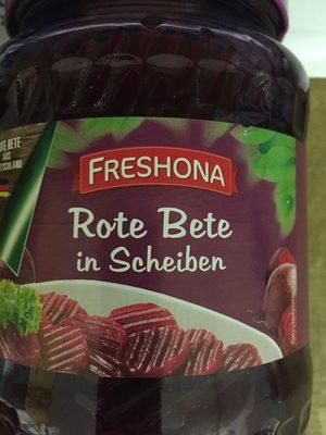 Rote Bete in Scheiben - Produkt