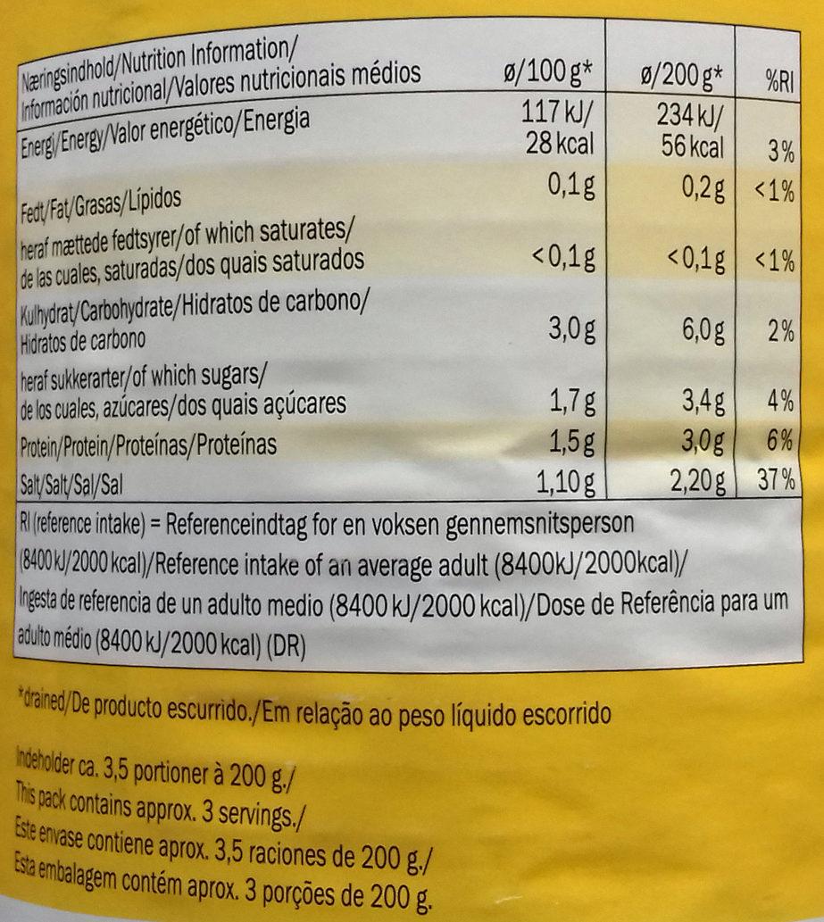 Weinsauerkraut mild - Nutrition facts