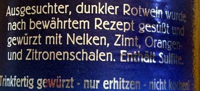 Christkindl Glühwein - Ingredients