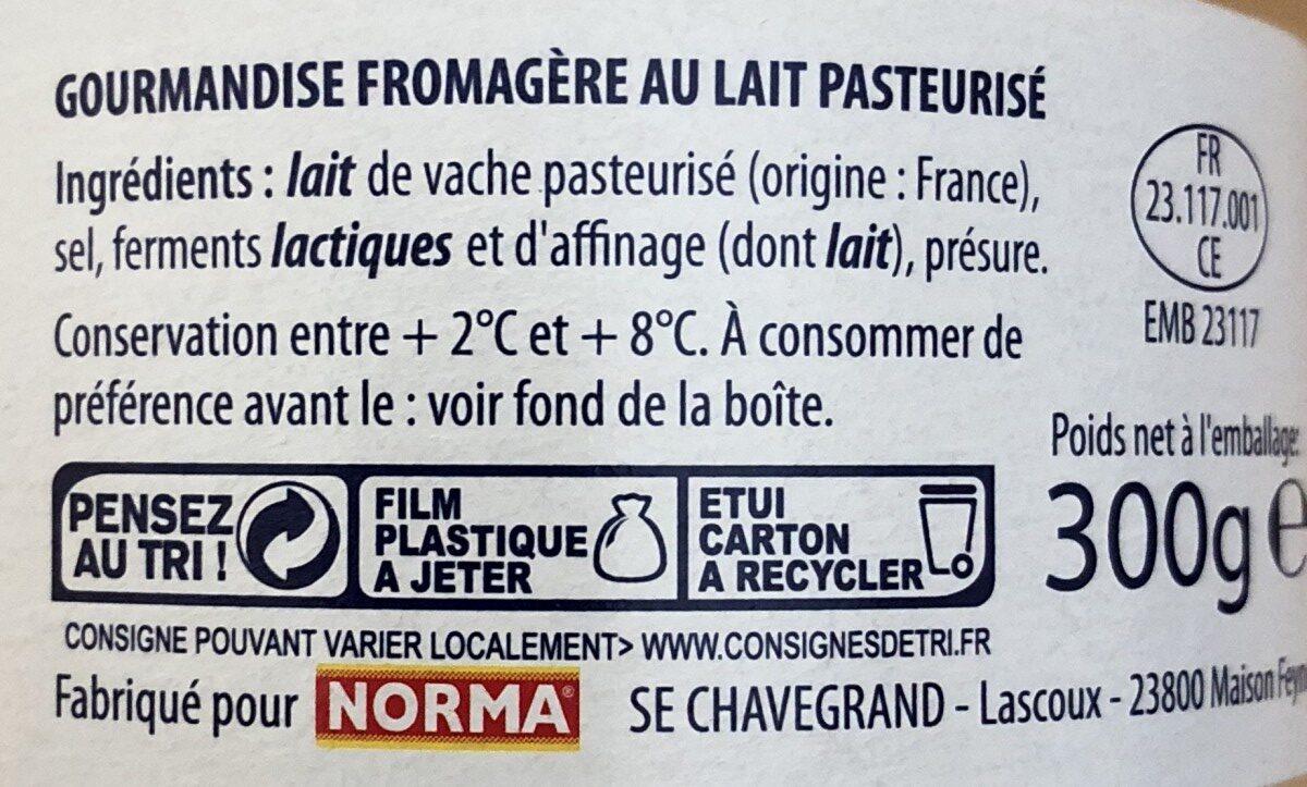 L'Angedoux - Ingrédients - fr