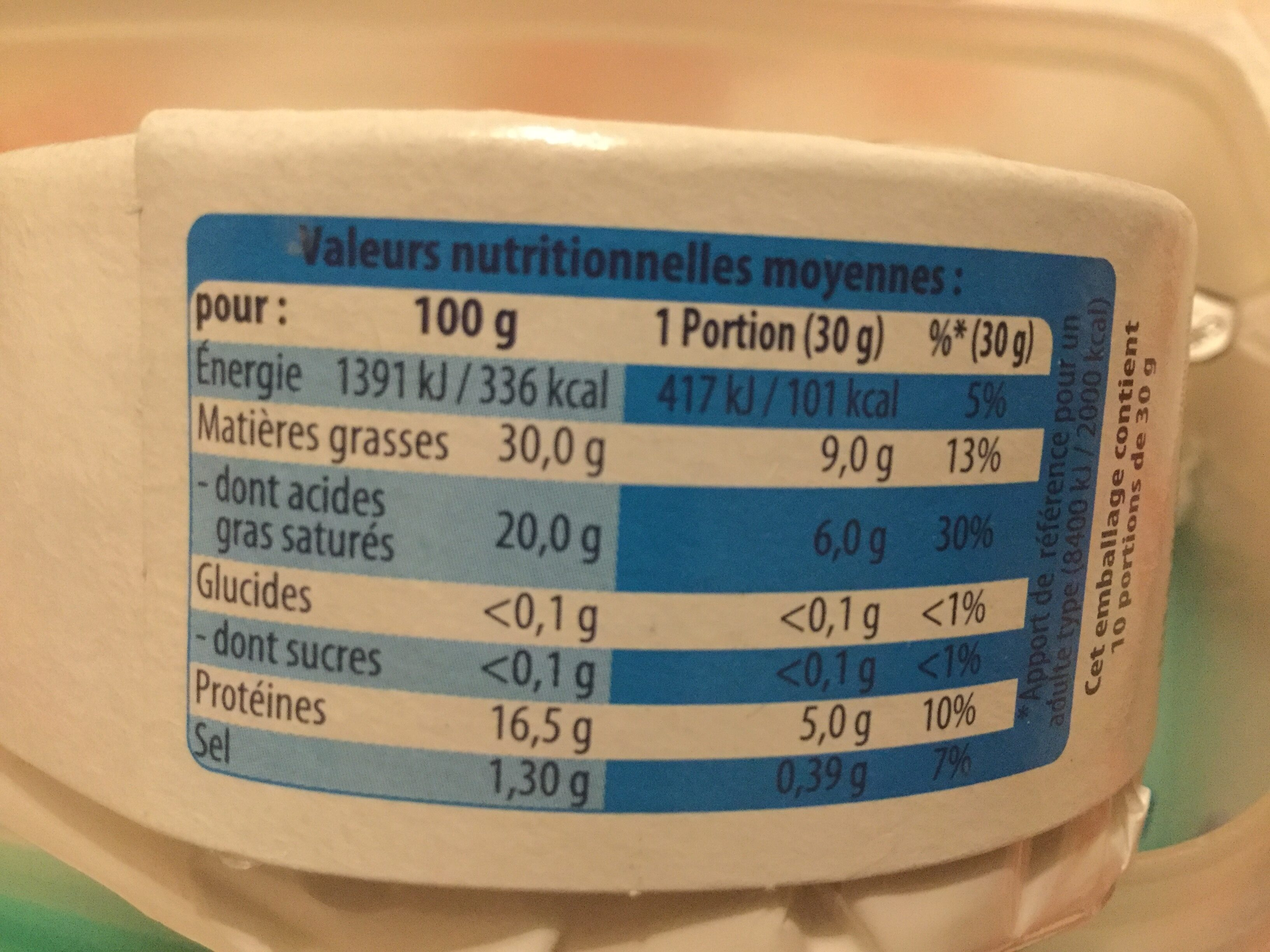 L'Angedoux - Informations nutritionnelles - fr