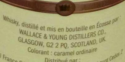 Blended Scotch Whisky - Ingrediënten - fr