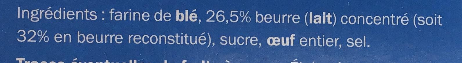 Butter rings - Ingredients - fr