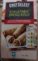4 Vegetable Spring Rolls - Prodotto - fr
