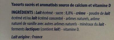 4 Vegetable Spring Rolls - Ingredienti - fr