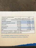 Gaufrettes roulées au chocolat au lait - Valori nutrizionali - fr