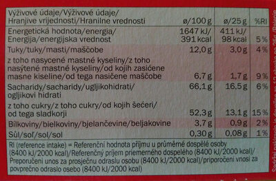 Soft Cake Cherry - Nutrition facts