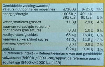 Soft-Biscuit - Informations nutritionnelles