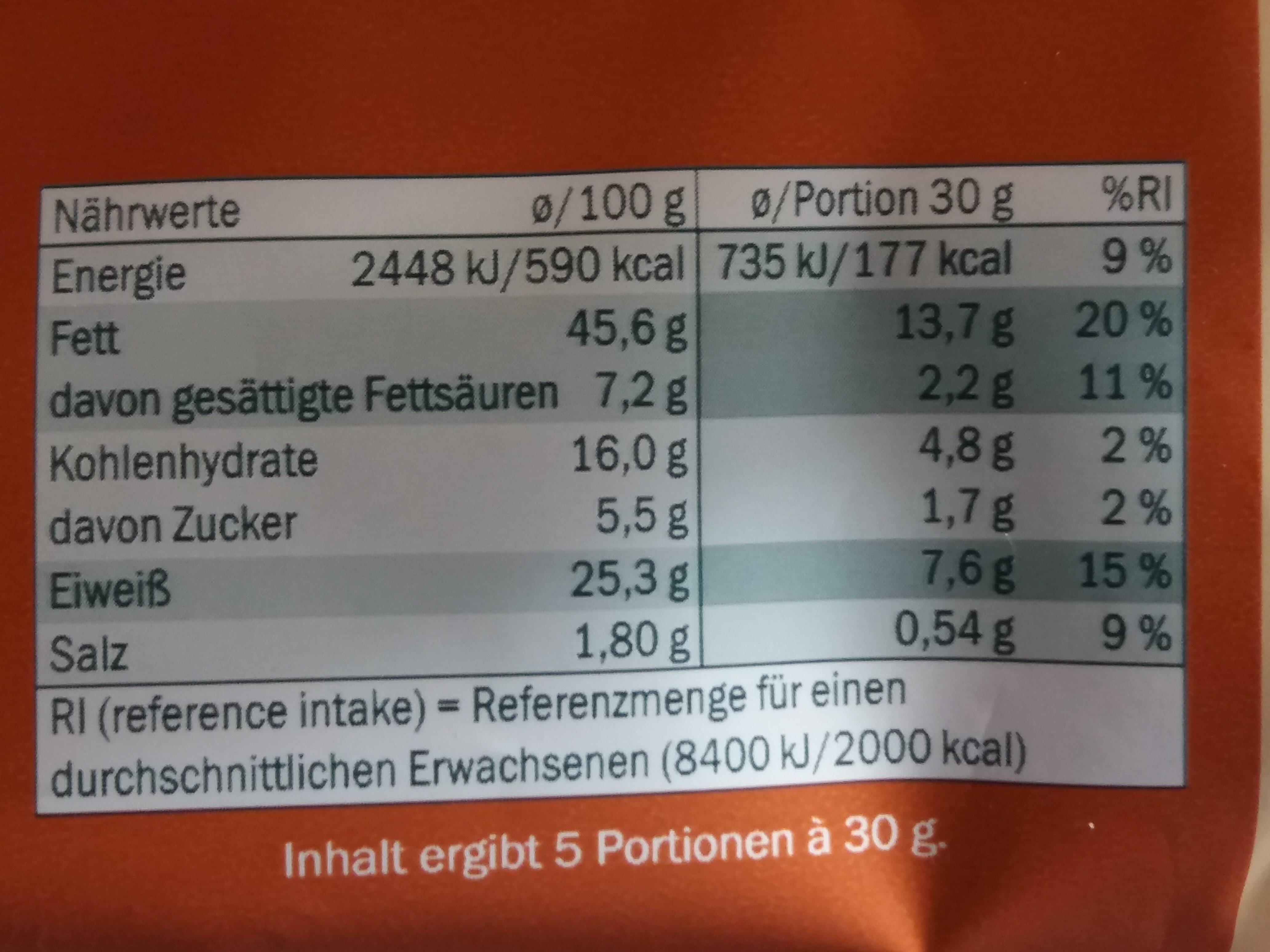 Arachidi piccanti - Nutrition facts - en