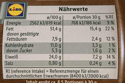 Erdnusskerne, geröstet & gesalzen - Informations nutritionnelles - de
