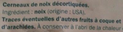 Cerneaux de Noix - Walnuts - Ingredientes