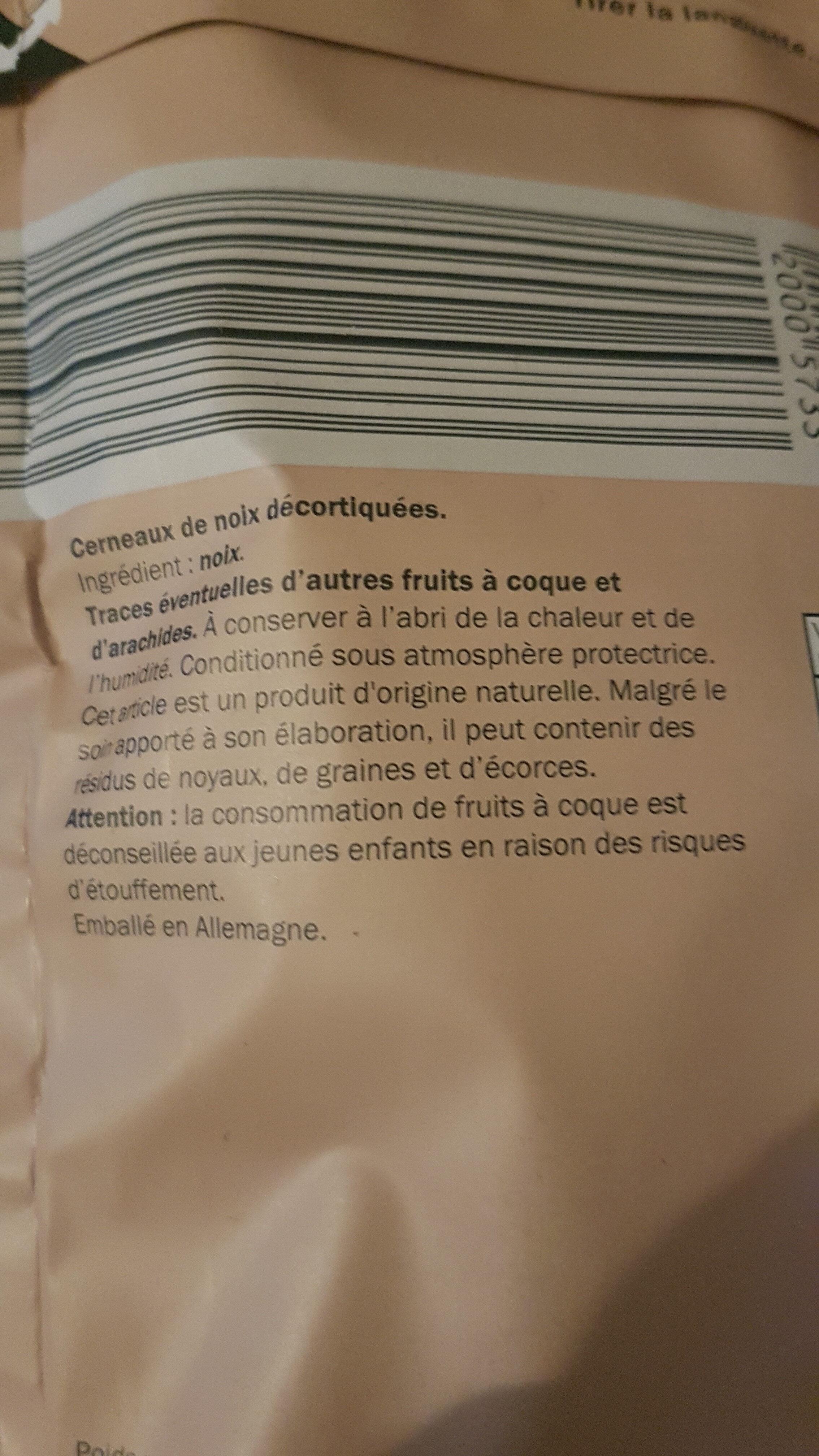 cernaux de noix de californie - Ingredientes - fr