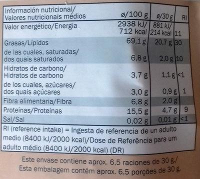 Walnusskerne naturbelassen - Información nutricional - es
