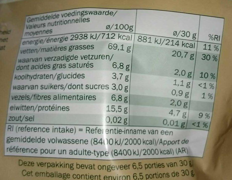 Cerneaux de Noix - Walnuts - Informação nutricional