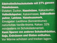 Ganze Nuss Edelvollmilch - Ingredients