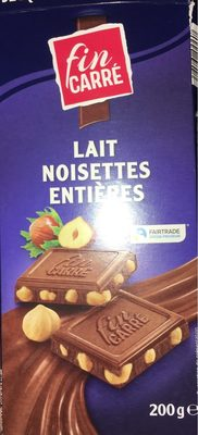 Chocolat Lait Noisettes entières - Product - fr