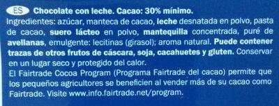 Alpenvollmilch Schokolade - Ingredientes - es