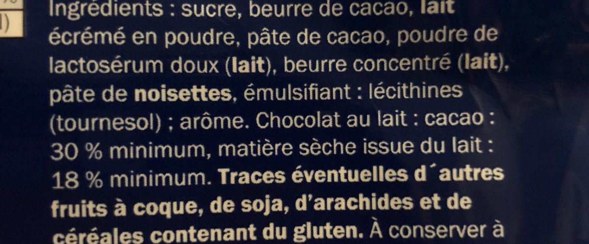 Alpenvollmilch Schokolade - Ingrédients - fr