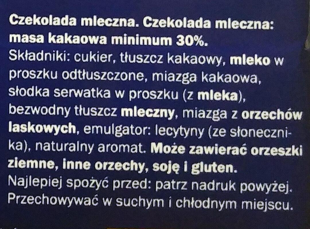 Milk Chocolate - Składniki - pl