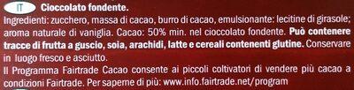 Cioccolato fondente - Ingredients
