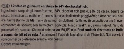 Choco Softies - Ingrédients