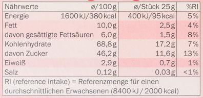 Choco Softies - Nutrition facts - de