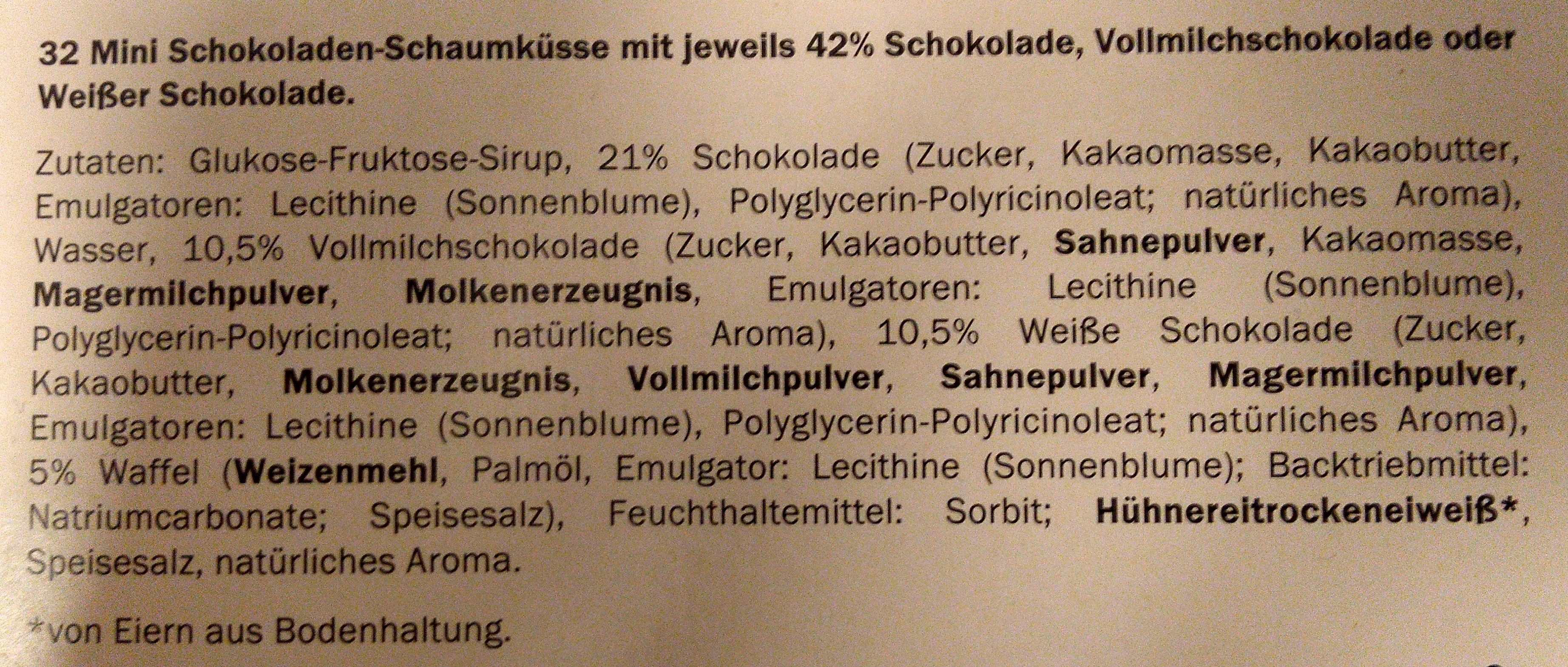 Choko Softies, Mini Schaumküsse - Ingredients