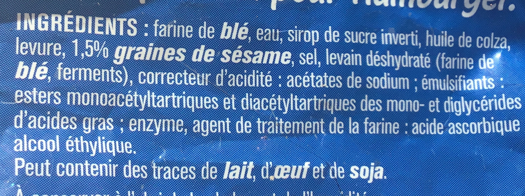 Burger Buns - Ingrédients - fr