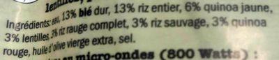 Mélange de 4 céréales - Ingrediënten - fr