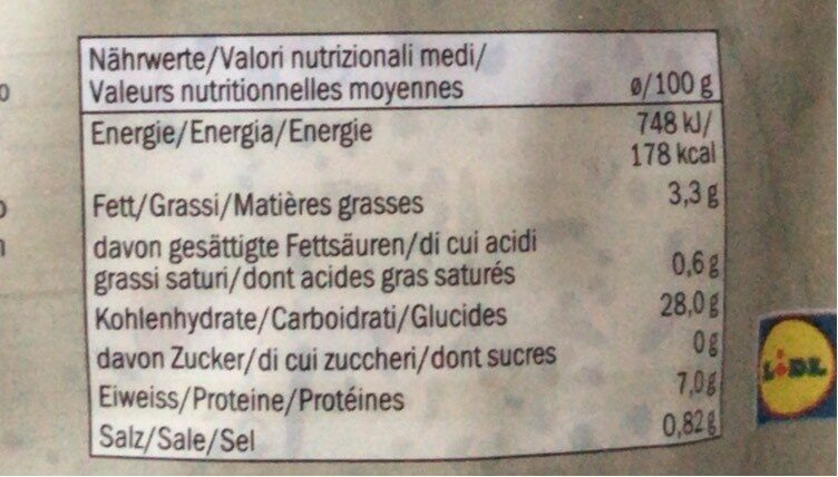 Mélange de 4 céréales - Voedingswaarden - fr