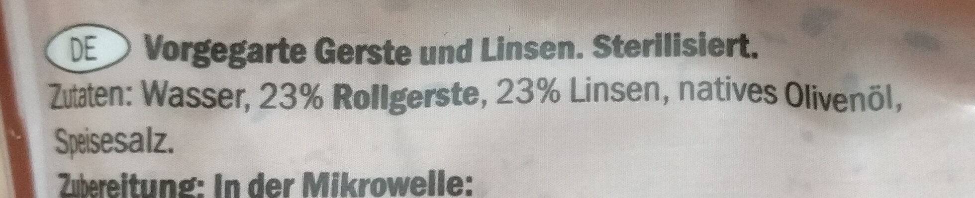 Gerste & Linsen - Ingredienti - de