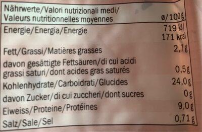 Orge mondé et lentilles - Informazioni nutrizionali - fr