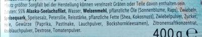 Schlemmerfilet knusprig kross - Ingredients - de