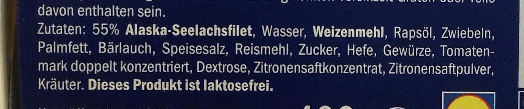 Schlemmerfilet knusprig kross - Ingrediënten - de