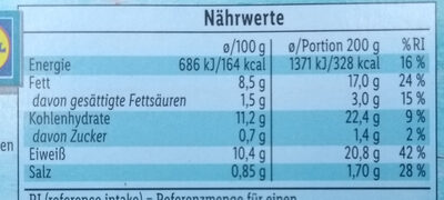 Schlemmerfilet knusprig kross - Nutrition facts - de