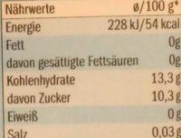 Tortenguss Klar - Nährwertangaben - de