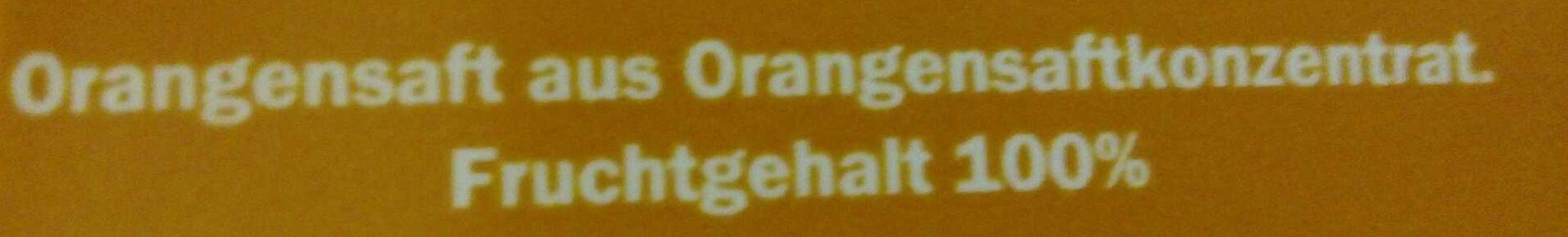 Jus d'orange à base de concentré - Inhaltsstoffe
