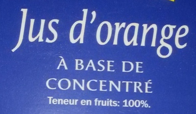 Jus d'orange à base de concentré - Ingrediënten