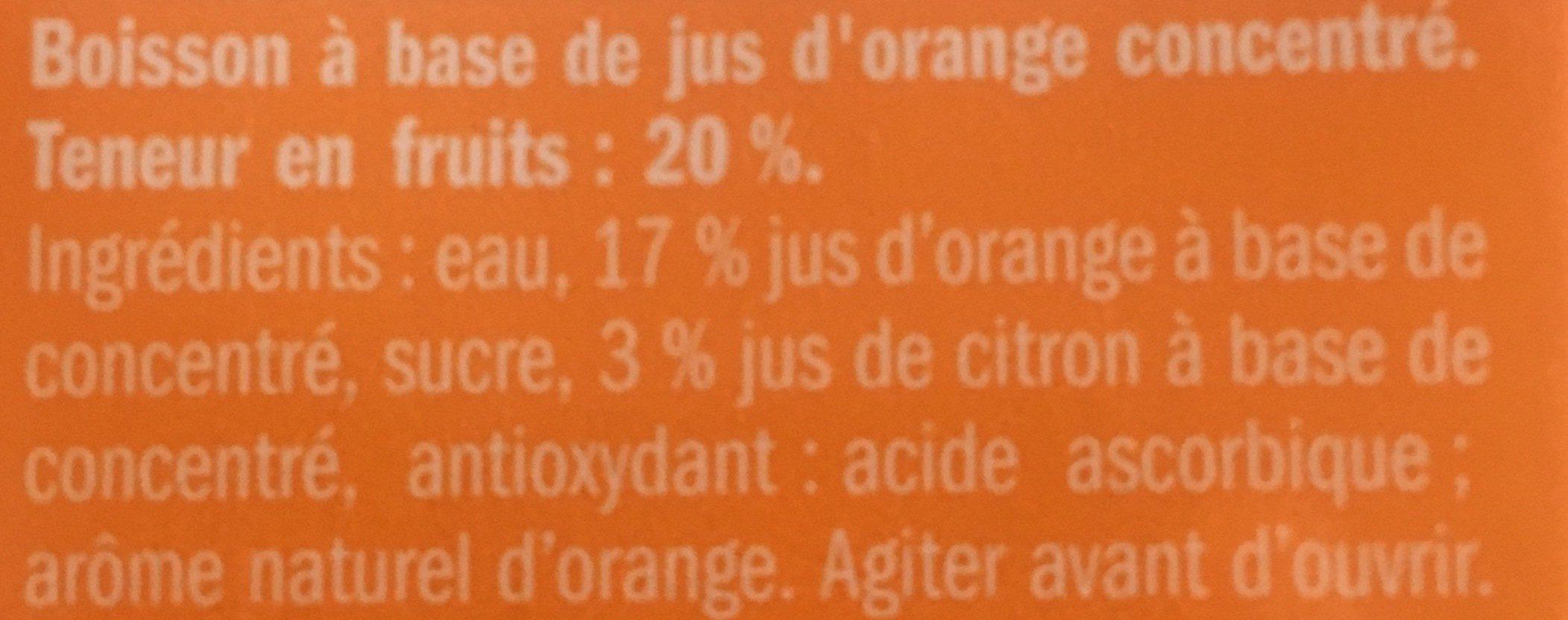Jus d'orange solevita - Inhaltsstoffe - fr