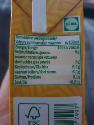 Solevita Orangensaft - Valori nutrizionali - fr