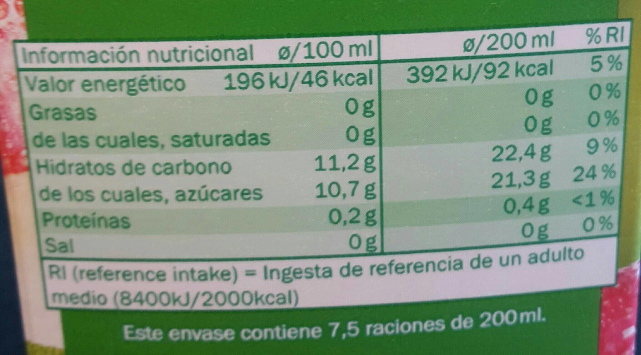 Zumo de Manzana - Nutrition facts - en