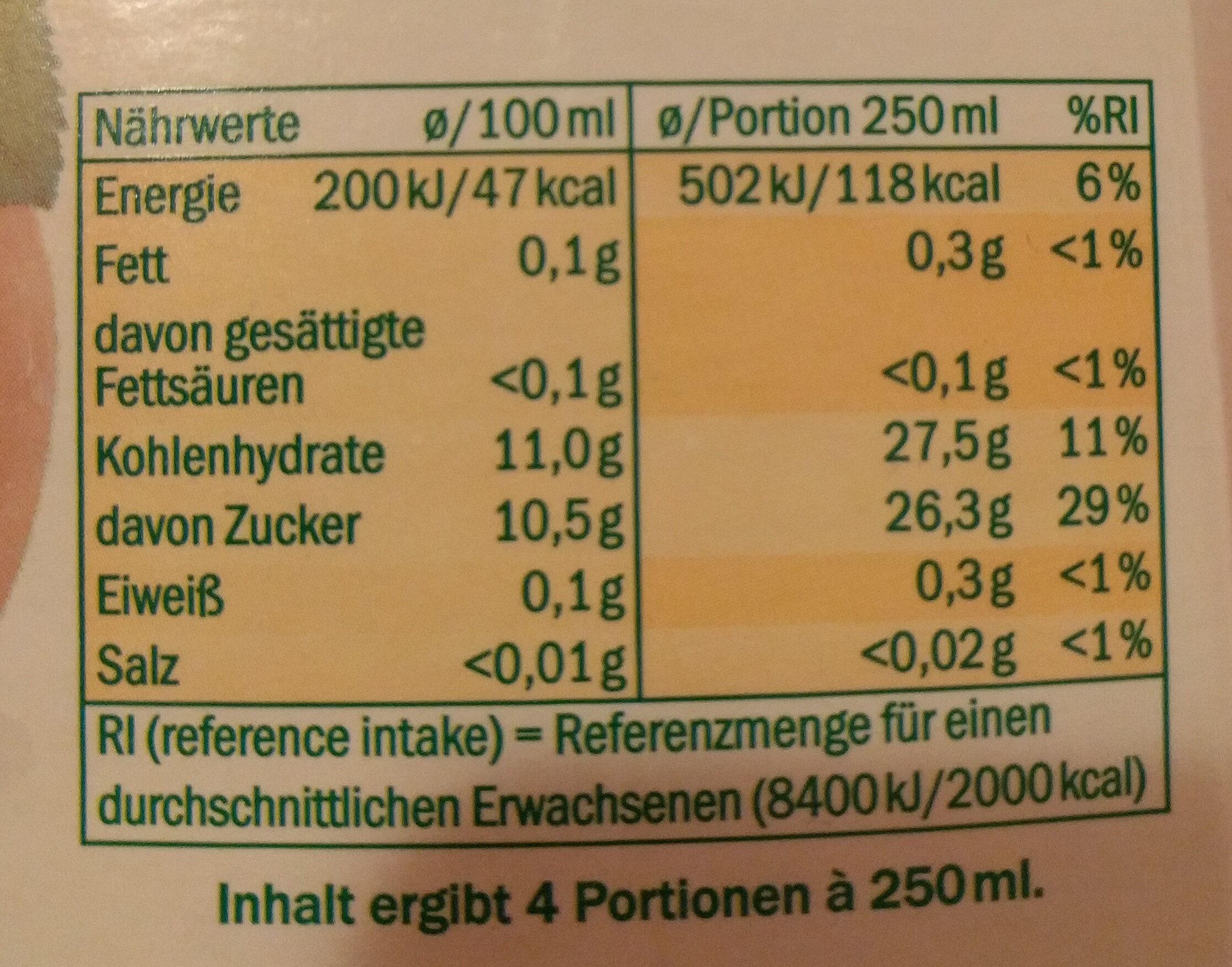 Apfel direkt gepresst - Voedingswaarden - de