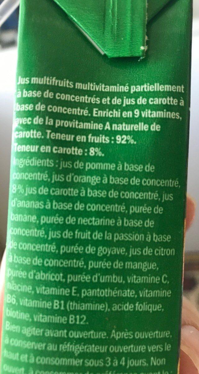 Jus Multivitaminé - Ingredients