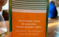 Orange Juice - Ingrédients - fr