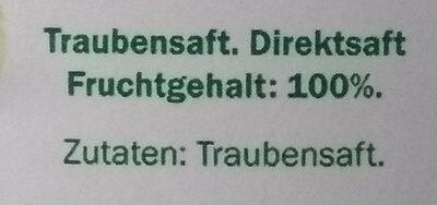 Premium Traubensaft - Ingrédients - de