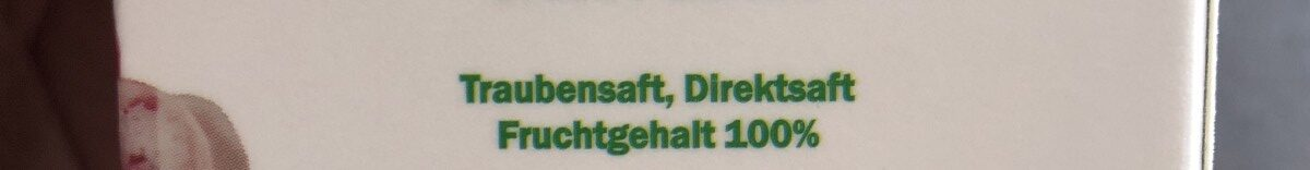 Premium Traubensaft - Ingrédients