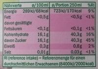 Premium Traubensaft - Informations nutritionnelles - de